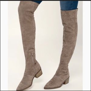 NWT Report Over the Knee Zaria  Studded Boots